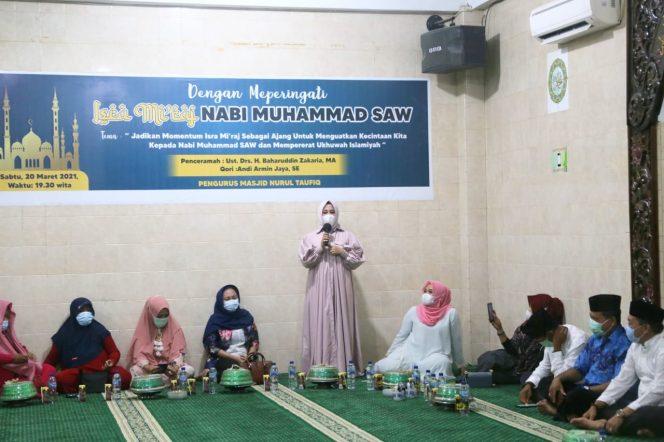 Hadiri Isra Mikraj, Fatmawati Rusdi Sosialisasikan Makassar Recover