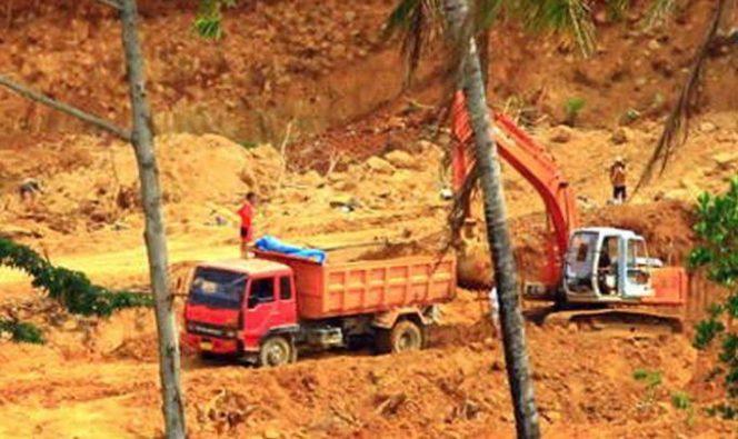 Aktivitas tambang yang dikeluhkan warga Bottolai, Barru
