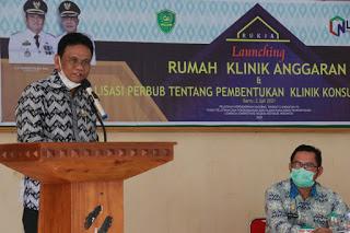 Bupati Barru, H Suardi Saleh saat launching Aplikasi RUKIA, Jumat (2/7/2021).