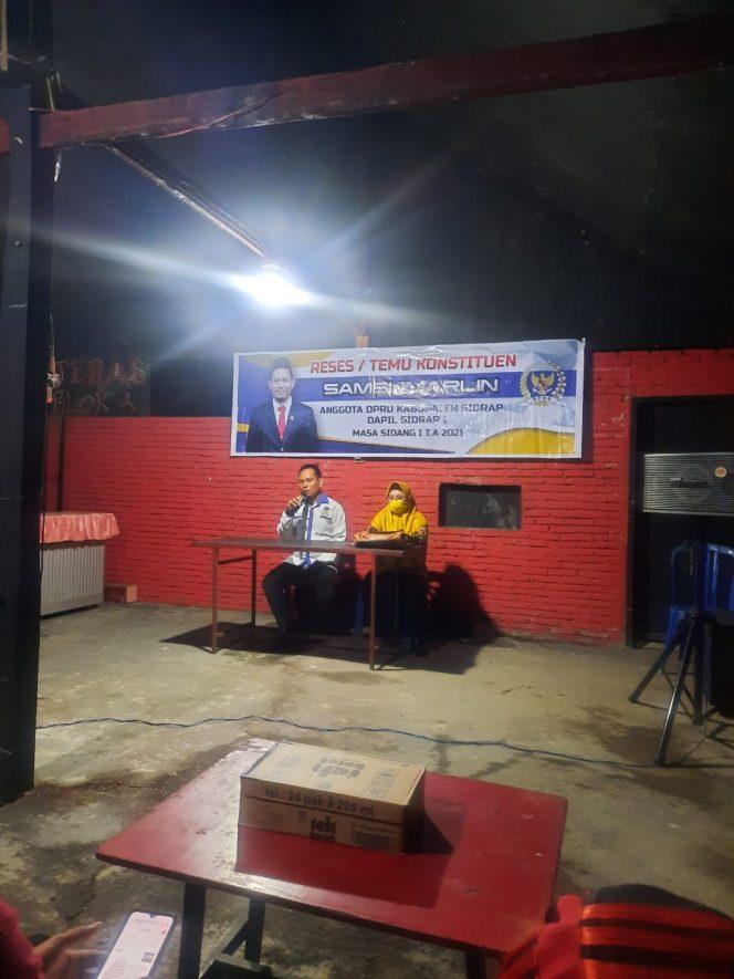 Reses di Bilokka, Samsumarlin Temui Komunitas Pemuda