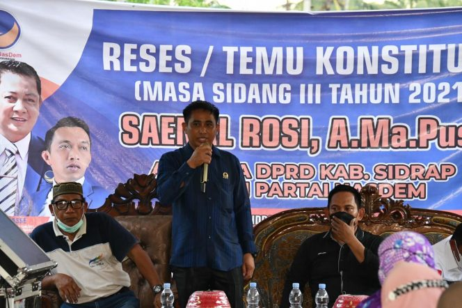 Sainal Rosi Serap Aspirasi di Desa Tonrongnge, Hadirkan Wakil Ketua DPRD Sulsel