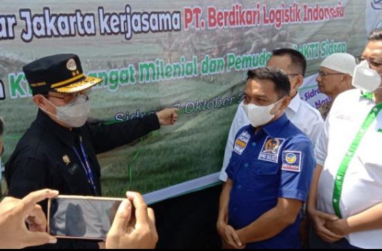 Kelompok Tani Milenial dan HKTI Sidrap Pelepasan Perdana 2.000 Tandan Pisang ke Jakarta