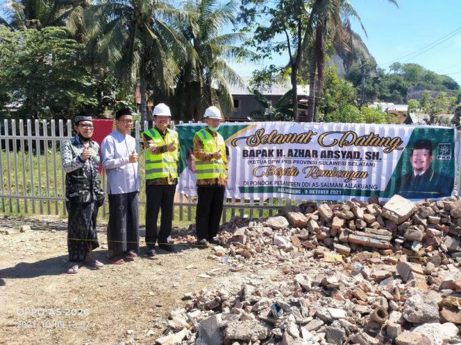Azhar Arsyad Letakkan Batu Pertama Pembangunan BLK